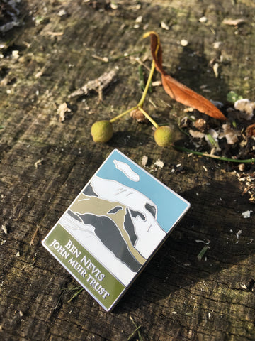 John Muir Trust Mountain Enamel Pin Badge
