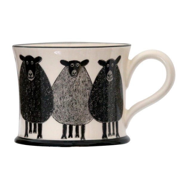 Sheep - Earthen Ware Mug by Moorland Pottery