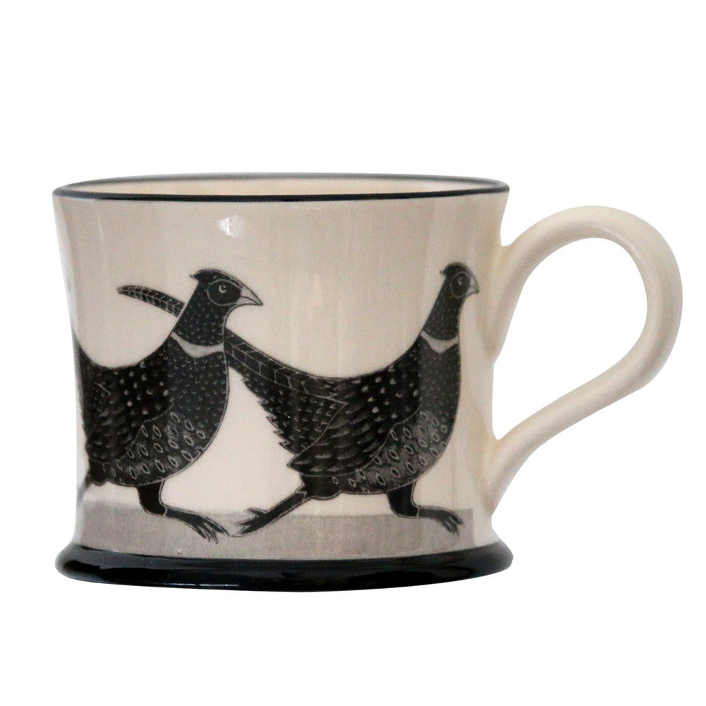 Pheasant - Earthen Ware Mug by Moorland Pottery
