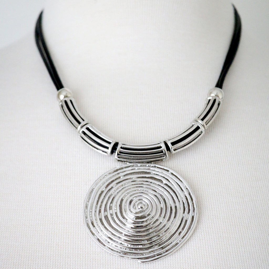 Tribal style twisted metal necklace