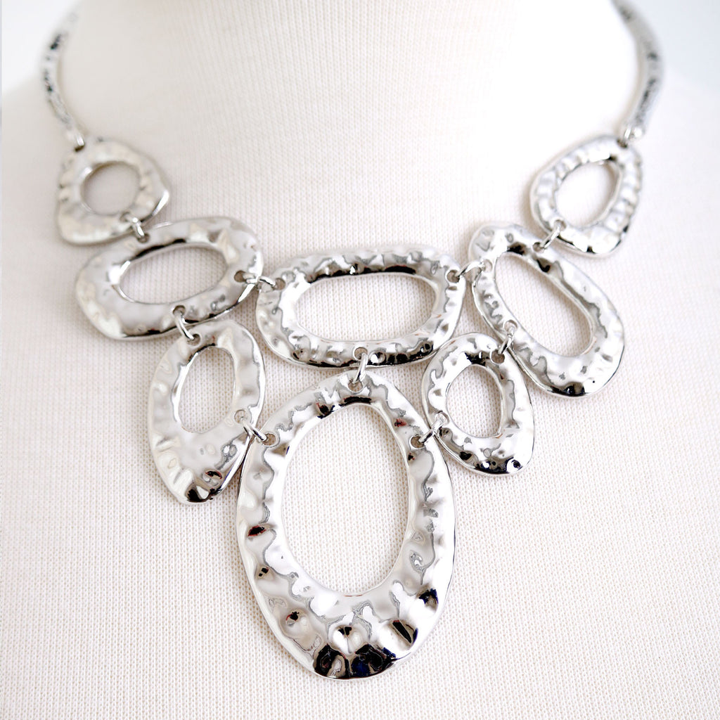 Highly polished abstract necklace