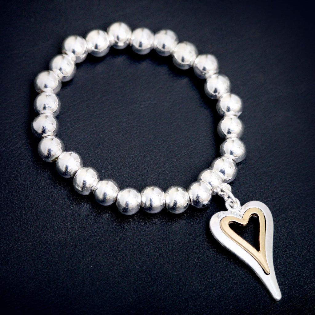 Elasticated Silver Ball Bracelet