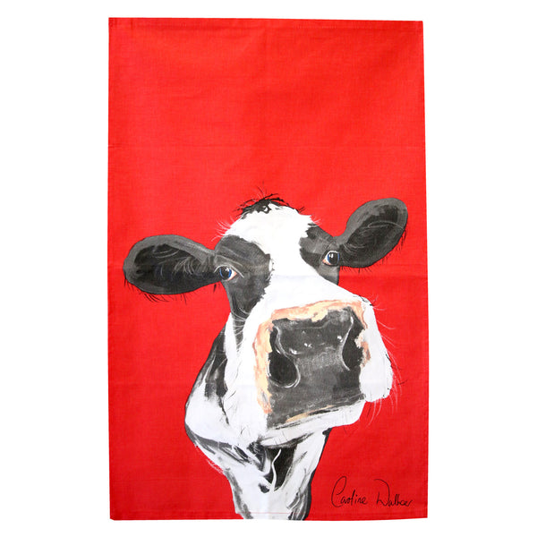 Honey Cow Tea Towel by Caroline Walker