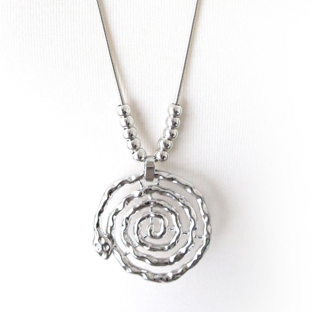 Serpent swirl pendant necklace