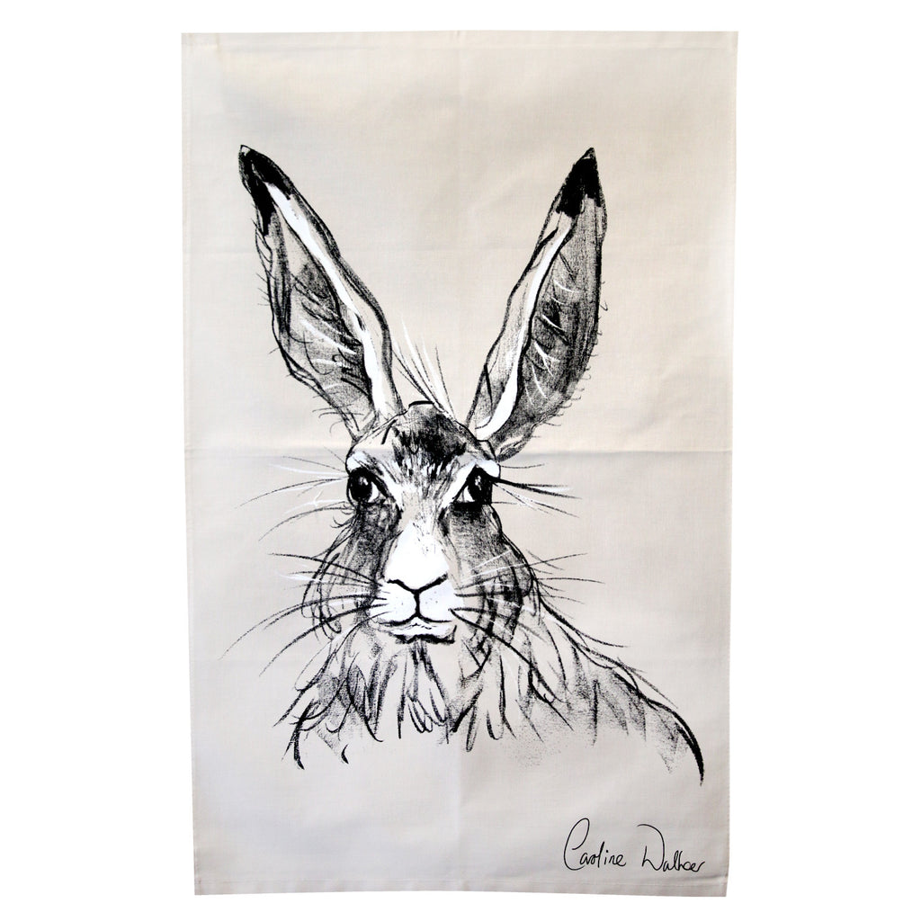 Billy Hare Tea Towel by Caroline Walker