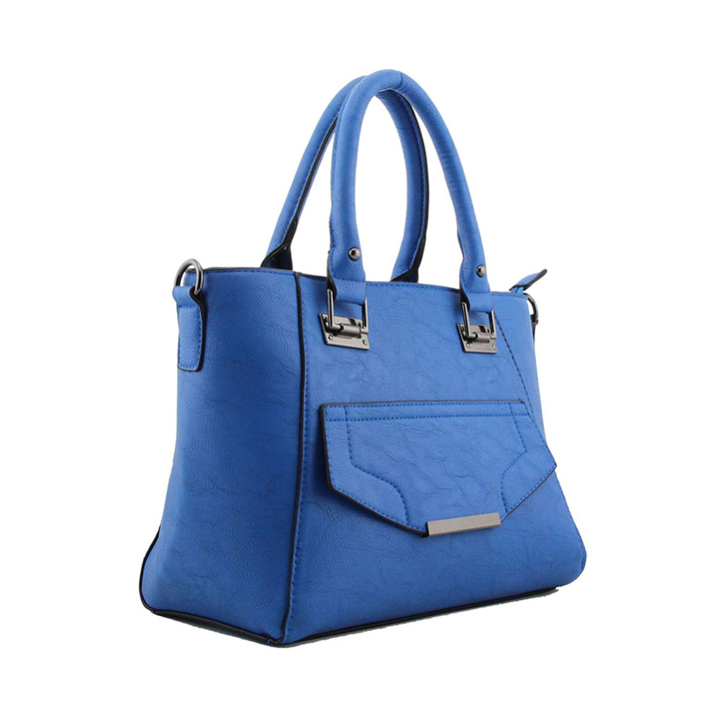 Beautiful hand held blue handbag