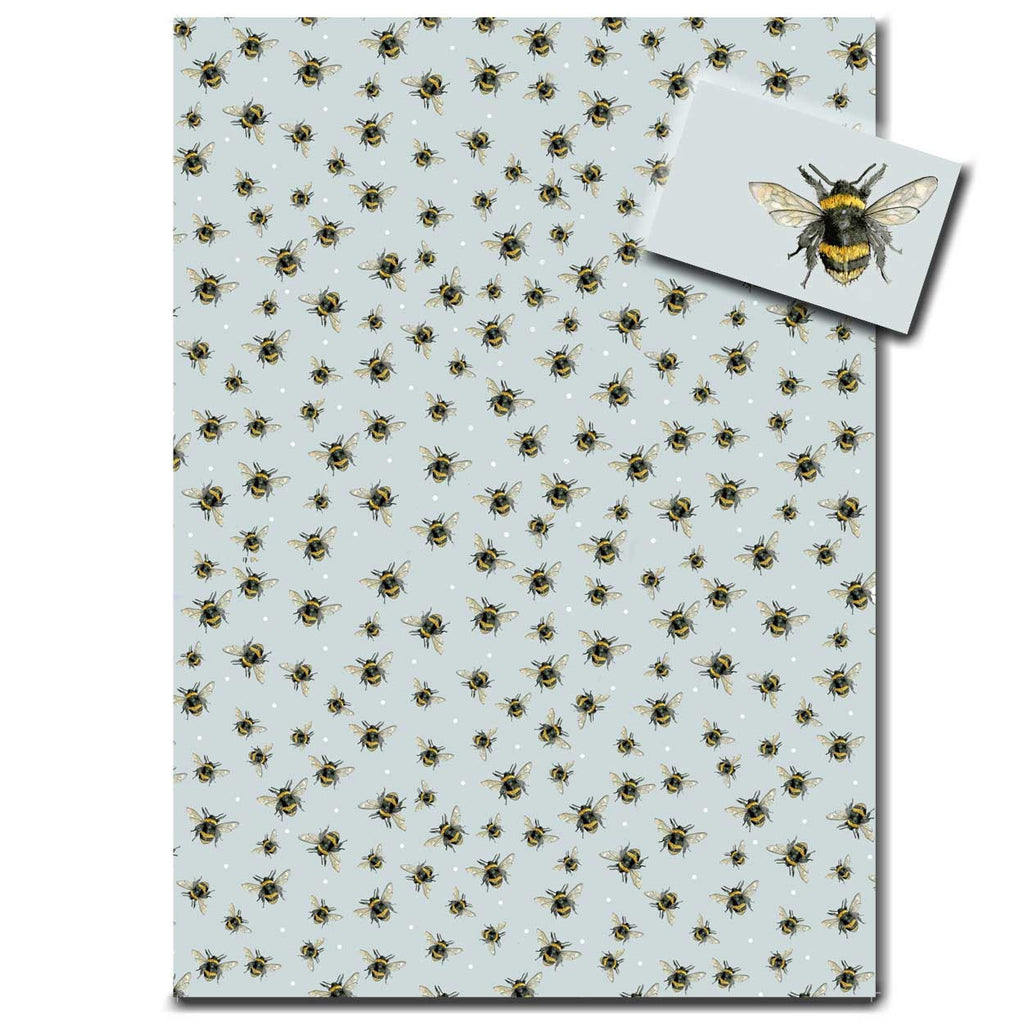 Bumble Bee Wrapping Paper designed by Sarah Boddy