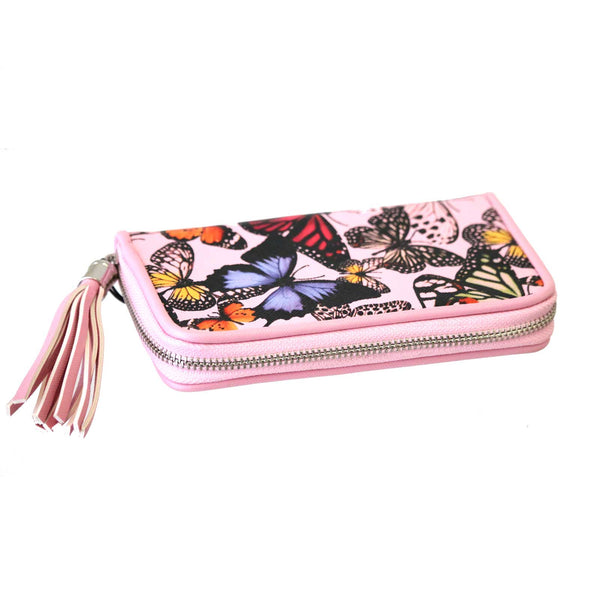 Butterfly Tassel Purse Pink