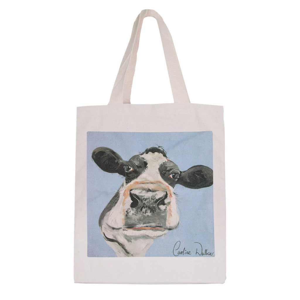 Large Cow Cotton Bag by Caroline Walker