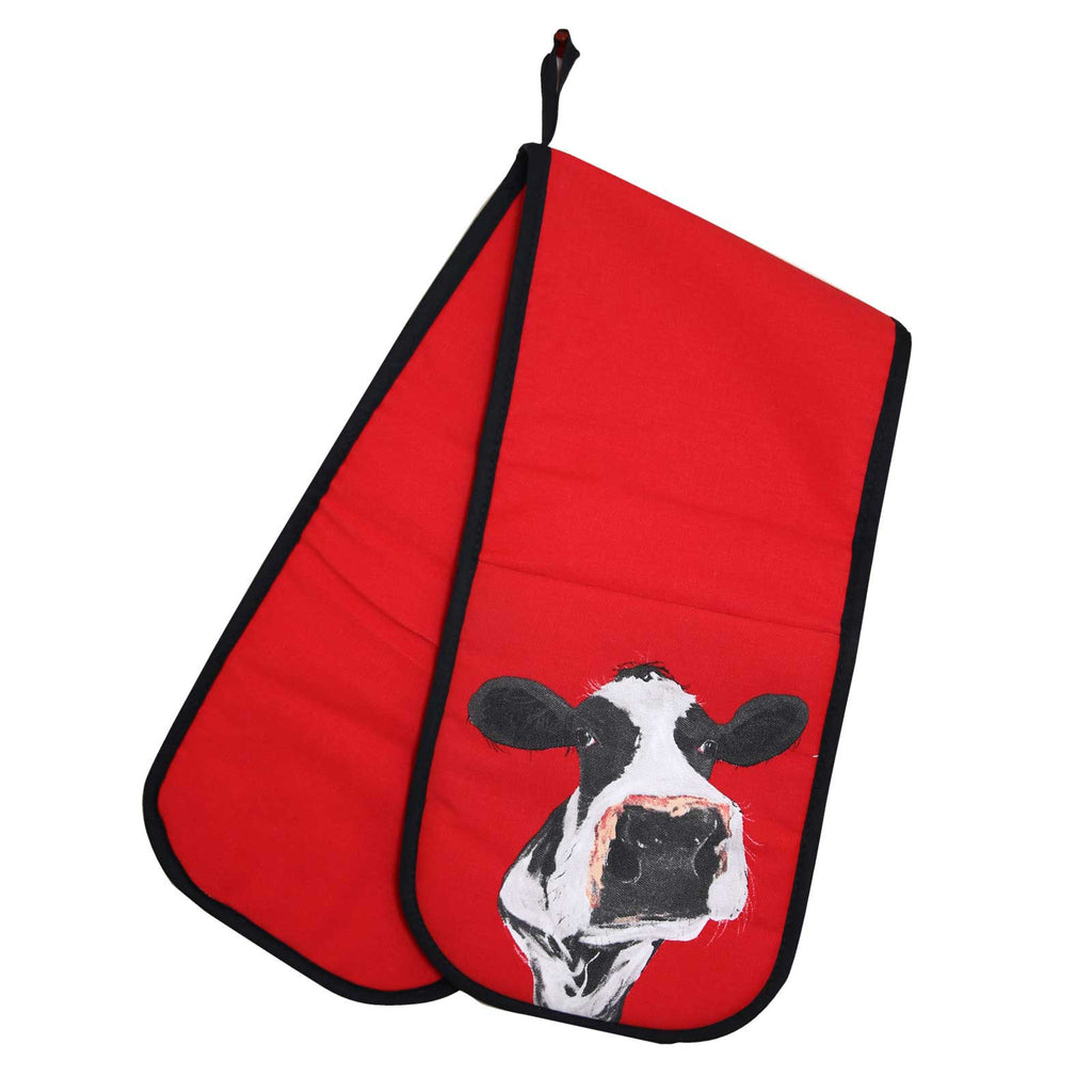 Cow Cotton Oven Glove by Caroline Walker