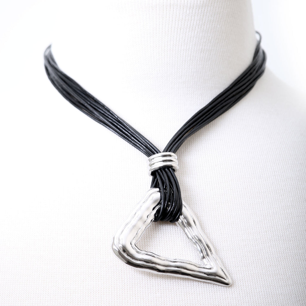 Contemporary highly polished abstract pendant necklace