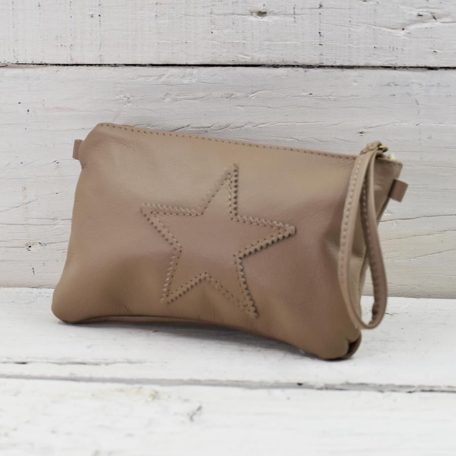 Leather Star Motif Handbag