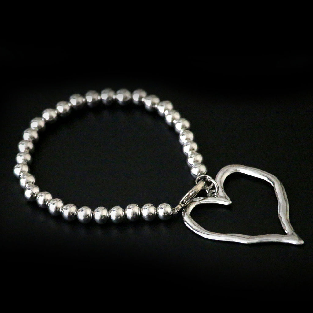 Designer inspired elasticated classic bead bracelet