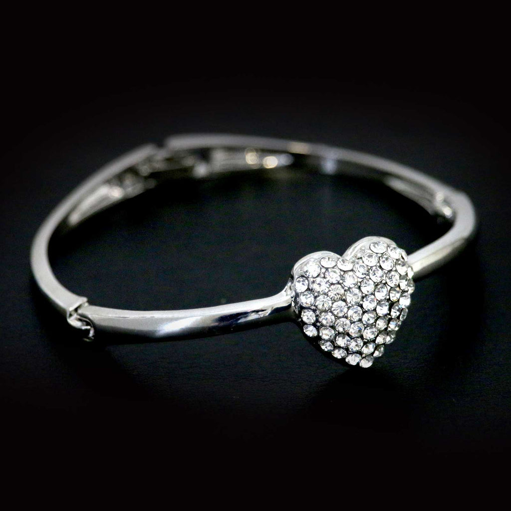 Diamante Heart Bangle