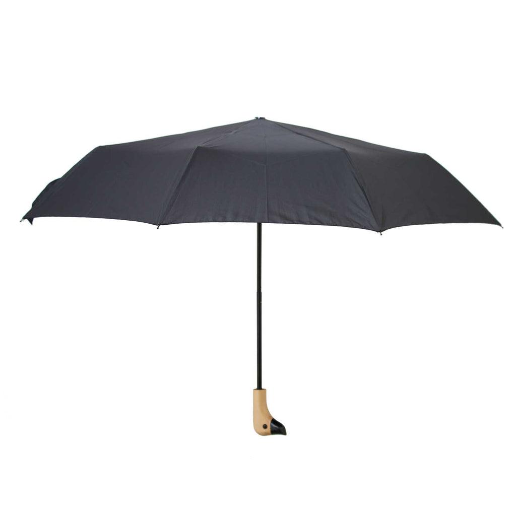 Black Wooden Duck Head Handle Umbrella