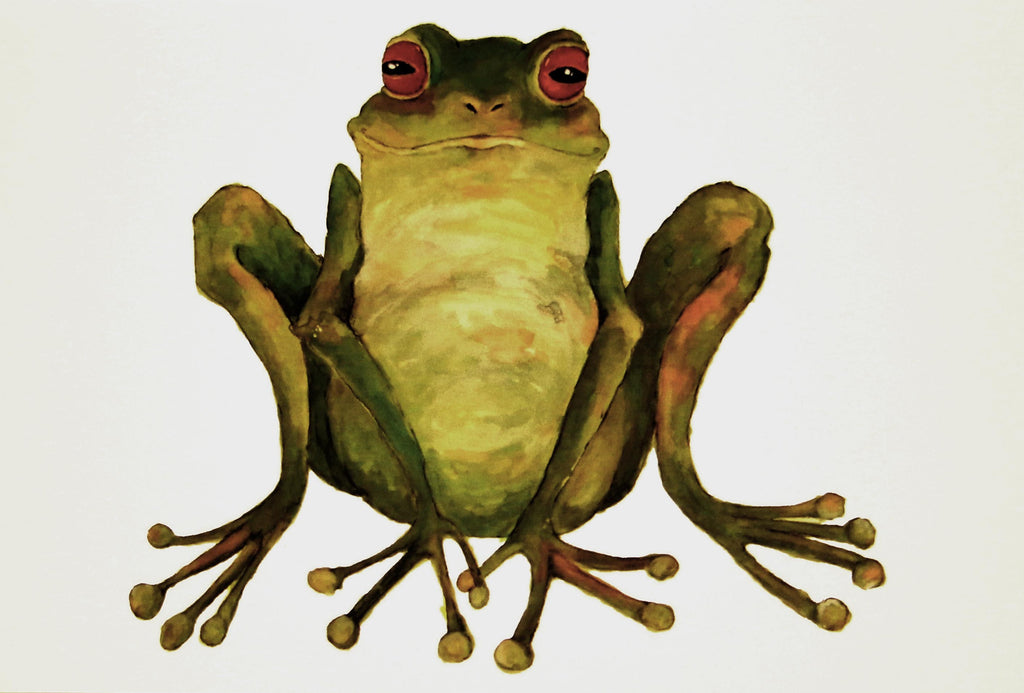 Frog greeting card by Clare Tyas