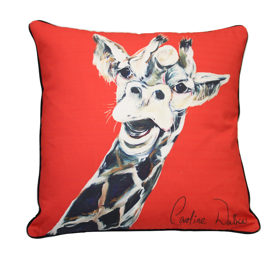 Giles Giraffe Cushion by Caroline Walker
