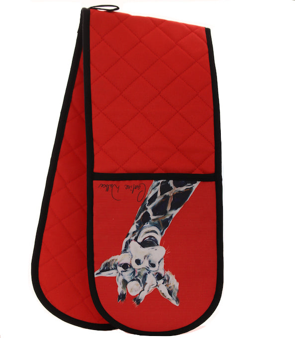 Giles Giraffe Double Oven Glove by Caroline Walker