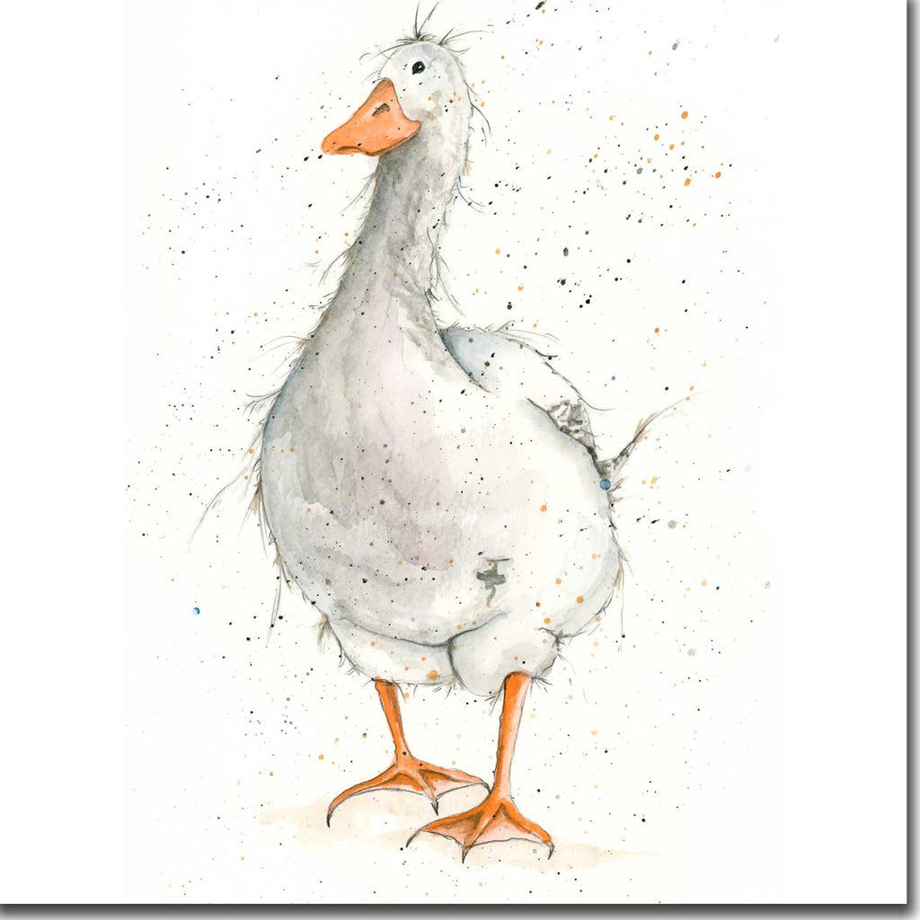 Grey Goose Greeting Card designed by Sarah Boddy
