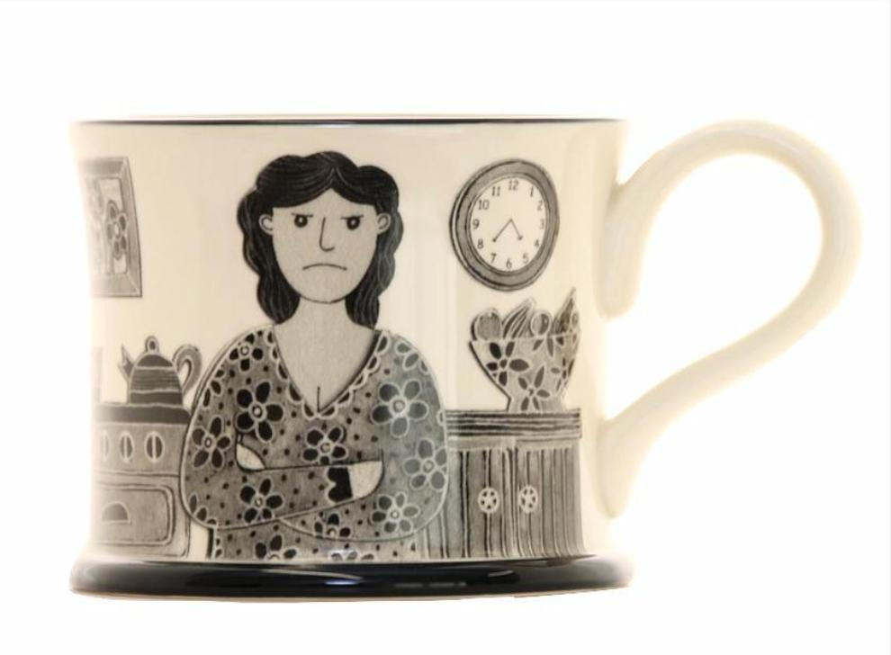 Grumpy Old Woman Earthen Ware Mug by Moorland Pottery