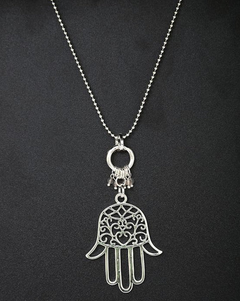 Hand of Fatima silver  pendant necklace by Sarah Tempest