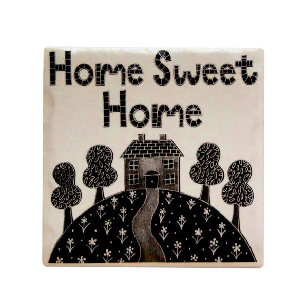 Home Sweet Home Coaster by Moorland pottery