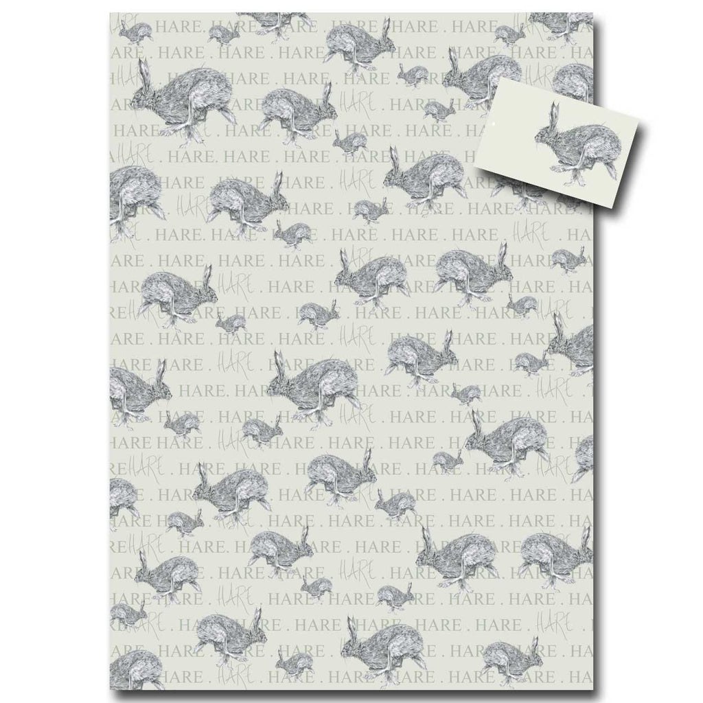 Horace Hare wrapping paper designed by Sarah Boddy