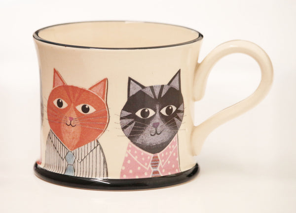 Kittens Earthenware Mug by Moorland Pottery