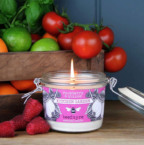 Raspberry/Quince Large Kitchen Candle by Beefayre