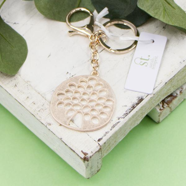 Rose gold Tree of life key ring by Sarah Tempest
