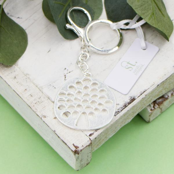Silver Tree of life key ring by Sarah Tempest
