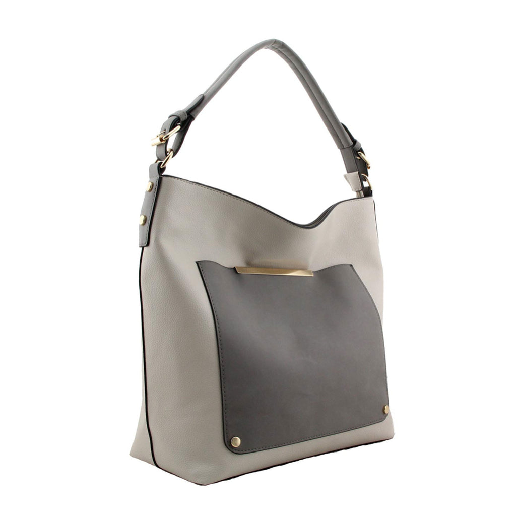 Shoulder Faux Leather Handbag with Zip Top Closure