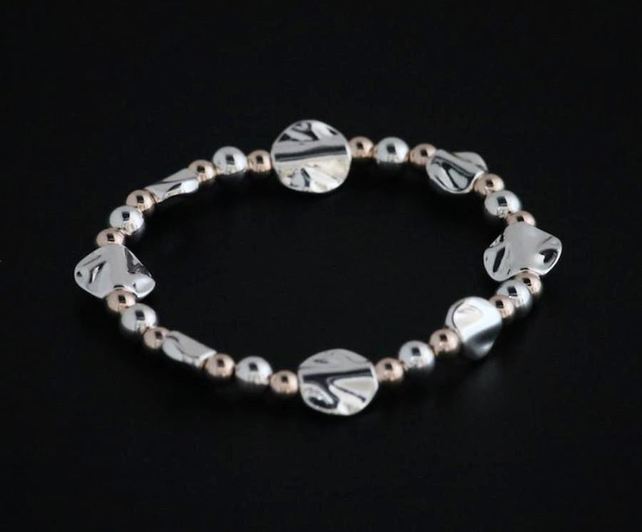 Soft Hammered Pebble Beaded Bracelet by Sarah Tempest