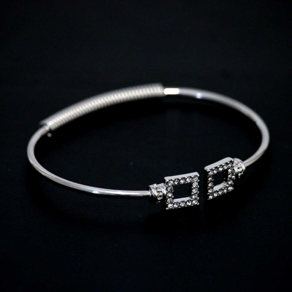 Square Crystal Shapes Bangle