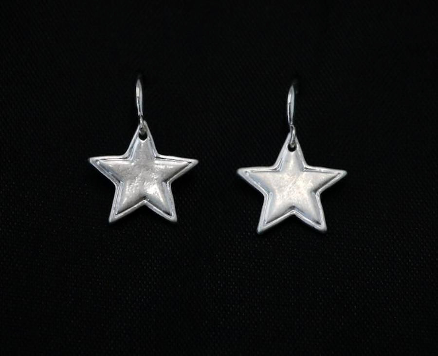 Star Drop silver  Earrings by Sarah Tempest.