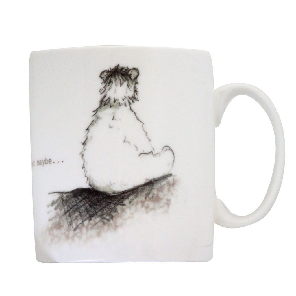 Bear Behind Bone China Mug
