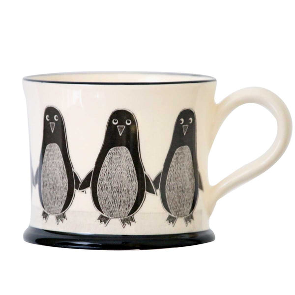 Penguin - Earthen Ware Mug by Moorland Pottery