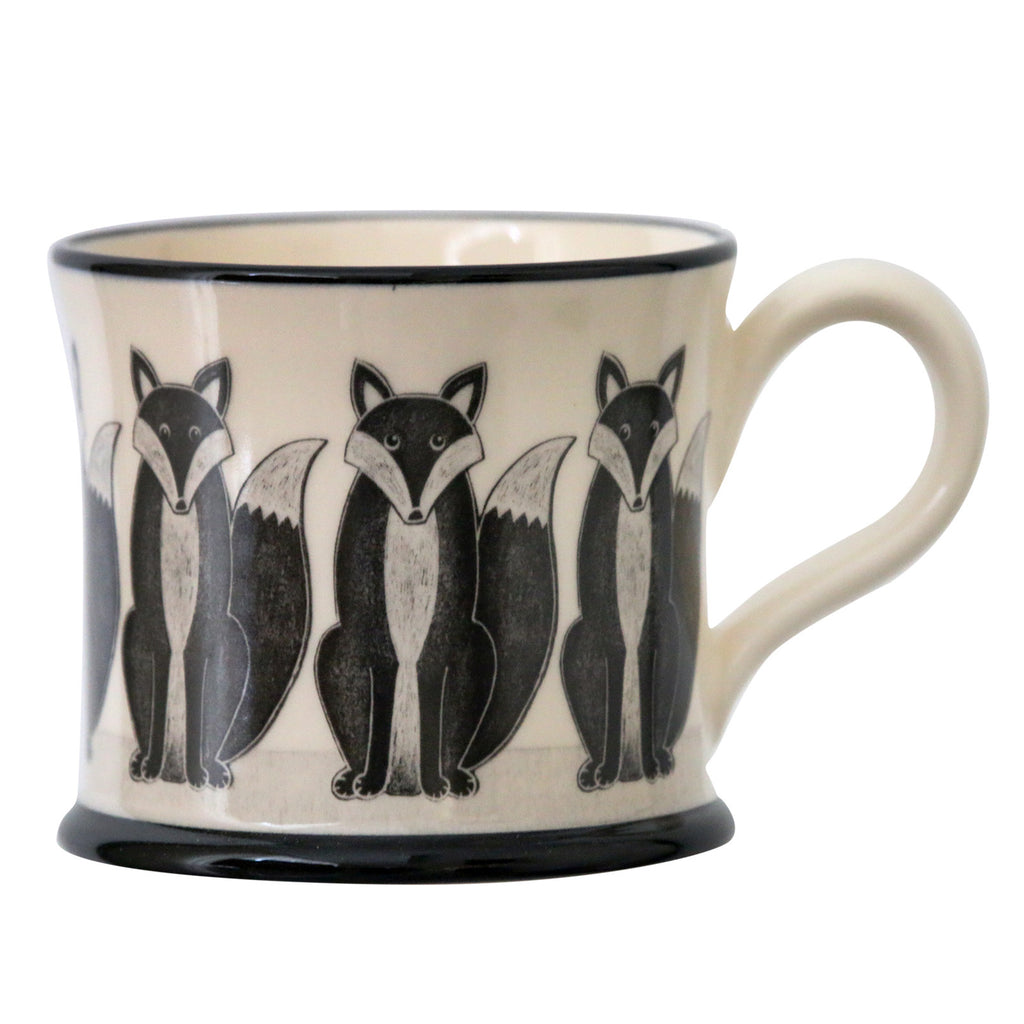 Fox - Earthen Ware Mug by Moorland Pottery