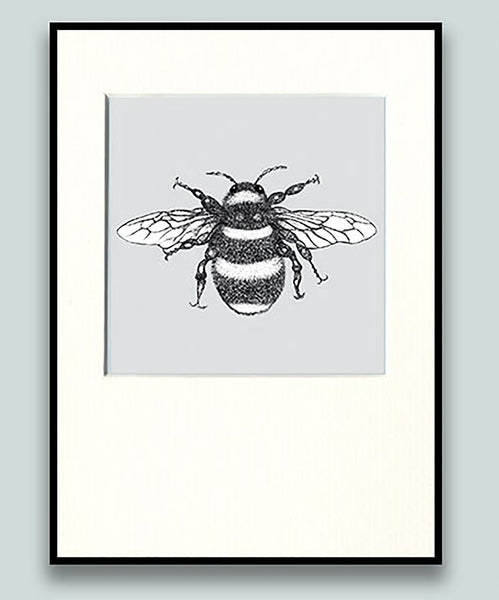 Bumble Bee Print Grey