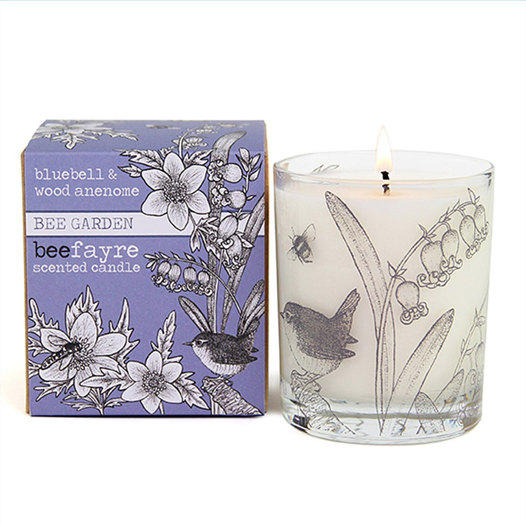Bluebell & Wood Anemone Large Candle by Beefayre