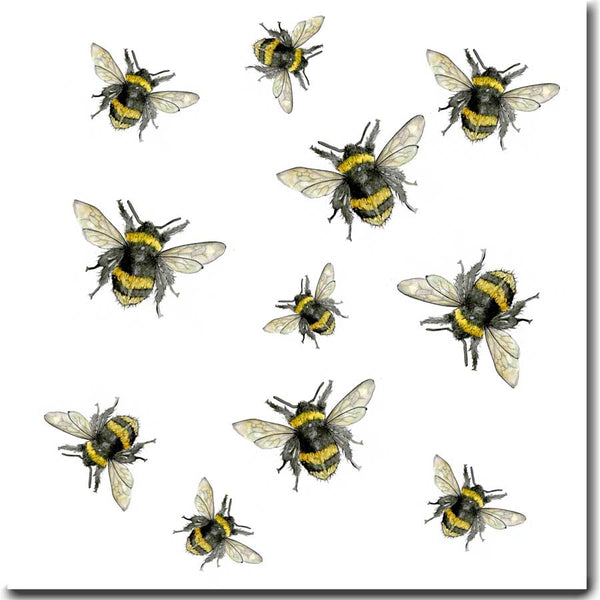 Busy Bees Greeting Card designed by Sarah Boddy