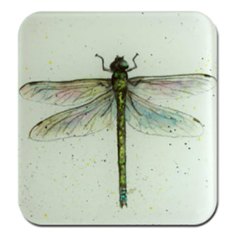 dragon fly glass coaster by Sarah Boddy