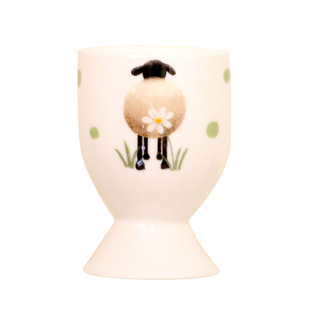 Sheep and Daisies bone China Egg Cup