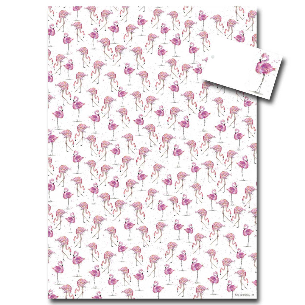 Flamingo Wrapping Paper designed by Sarah Boddy