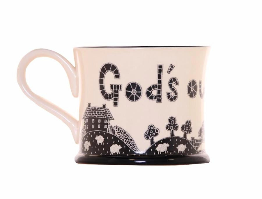 God's Own County - Earthenware Mug by Moorland Pottery