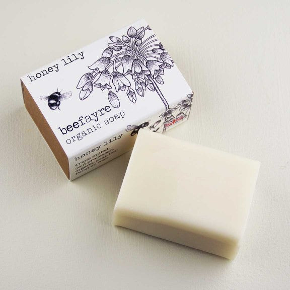 Organic 100g Honey Lily Soap by  Beefayre