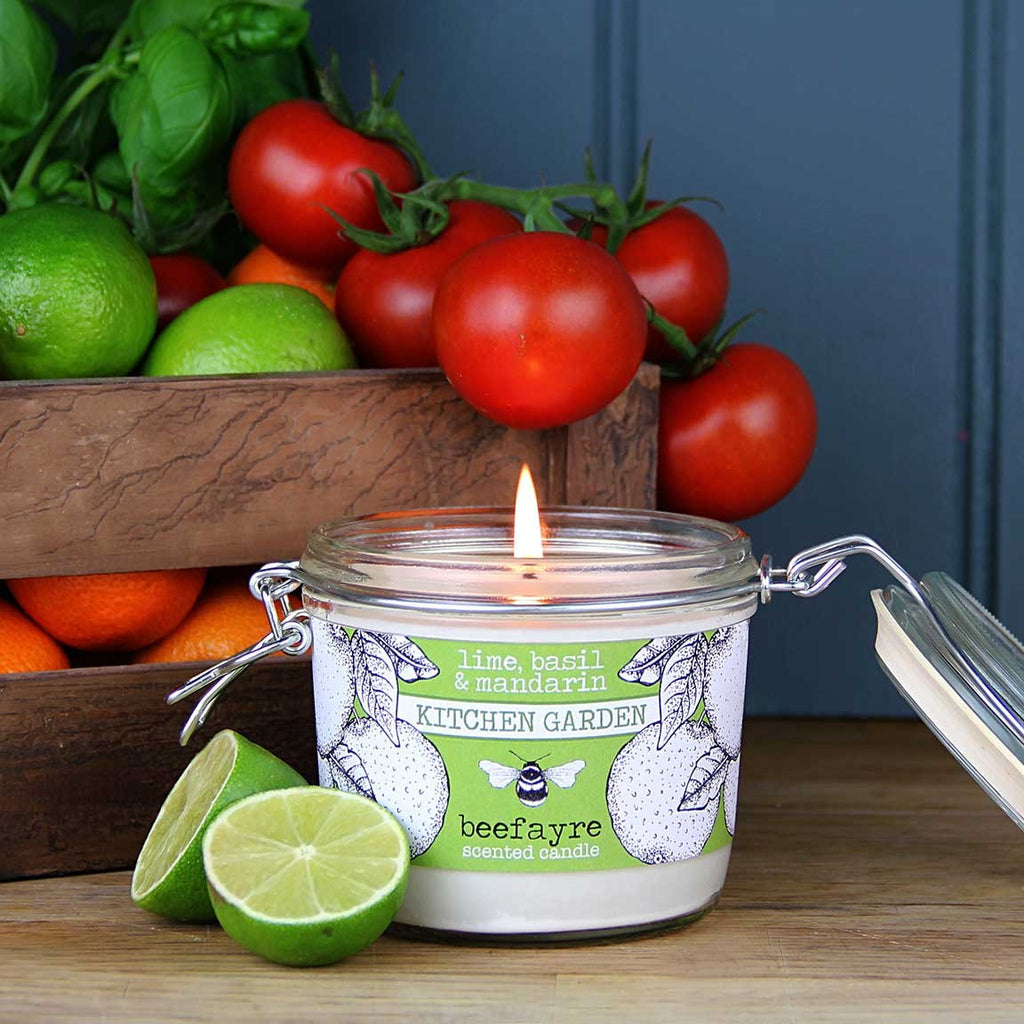 Lime, Basil & Mandarin Large Kitchen Candle