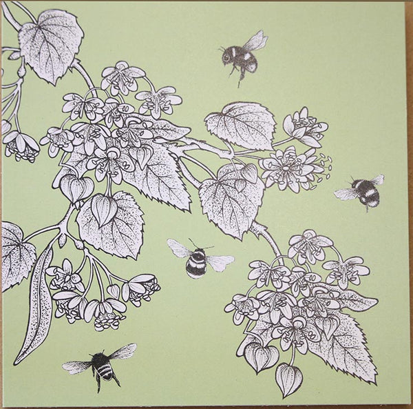 Lime blossom greeting card designed by Beefayre