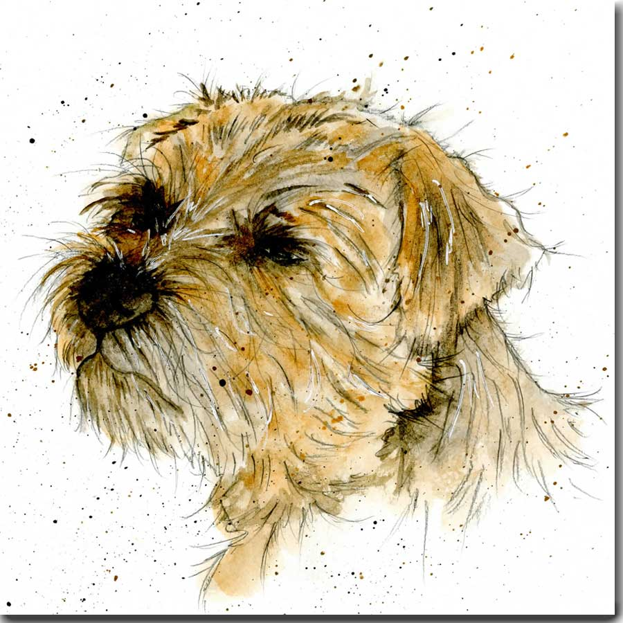 Monty the Border Terrier Greeting Card
