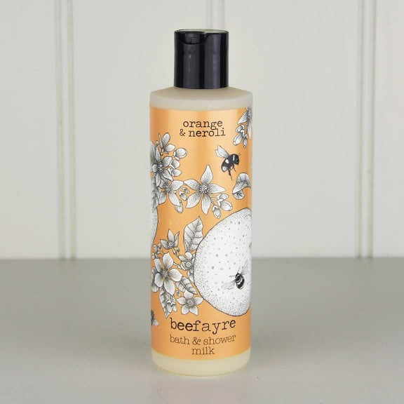 Bee Happy Orange & Neroli Bath & Shower Milk by Beefayre